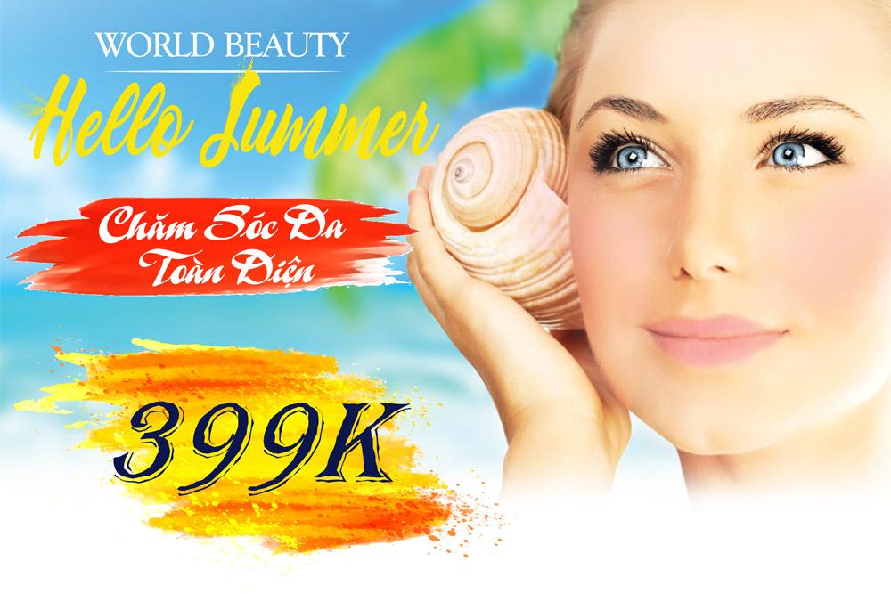 Chăm sóc da chỉ 399k - World Beauty