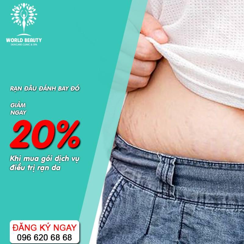 World Beauty giảm giá điều trị rạng da 20%