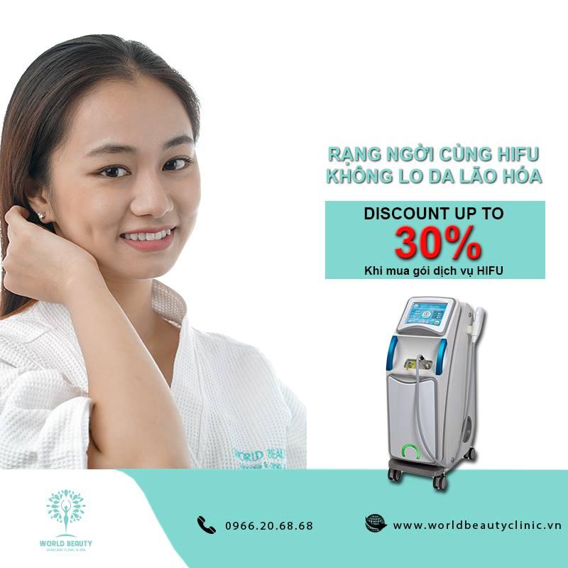 Giảm giá dịch vụ nâng cơ Hifu lên tới 30%